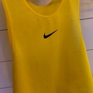 Yellow Nike scrimmage vest